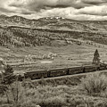 Cumbres Toltec Railroad Nm Sepia Dsc04065 by Greg Kluempers