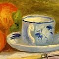 Cup And Oranges by Renoir PierreAuguste