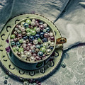 Cup Of Beads by Chellie Bock