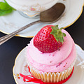 Cupcake With Strawberry by Anastasy Yarmolovich