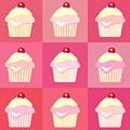 Cupcakes Pop Art  by Jane Rix