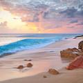 Cupecoy Beach Sunset Saint Maarten by Roupen Baker