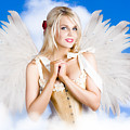 Cupid Angel Of Love Flying High With Fairy Wings by Jorgo Photography - Wall Art Gallery