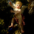 Cupid In A Tree by Jean-Jacques-Francois Le Barbier