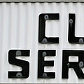 Curb Service Sign by Denise Beverly