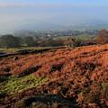 Curbar Edge Curbar Valley Derbyshire by Dave Porter