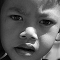 Curious Cambodian Child by Linda Russell