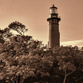 Currituck Beach Lighthouse - Sepia by Phyllis Taylor