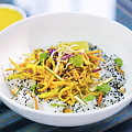 Curry Sauce Vegetable Salad With Noodles And Sesame by Jacek Malipan