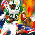 Curtis Martin New York Jets by Lourry Legarde
