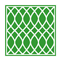 Curved Trellis With Border In Dublin Green by Custom Home Fashions