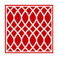 Curved Trellis With Border In Red by Custom Home Fashions