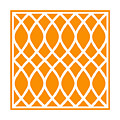 Curved Trellis With Border In Tangerine by Custom Home Fashions