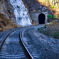 Curves On The Railways At The Entrance Of The Tunnel by Jorge Murguia