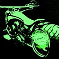 Custom Harley Davidson Teal by Ruben Barbosa