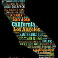 Custom Silhouette Art Print, Pop Art California Map, Modern Style Country Map, Country Maps For Home by Oleksandr Vaznichenko