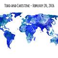Custom World Map by Michelle Eshleman