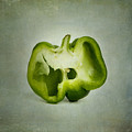 Cut Green Bell Pepper by Bernard Jaubert