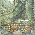 Cutaway Of Dustys Boat by Brambly Hedge