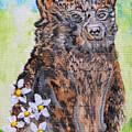 Cute Baby Black Bear Art by Ella Kaye Dickey