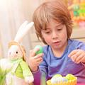 Cute Boy Enjoy Easter Holiday by Anna Om