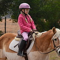 Cute Girl On Horse 2 by Scott Robertson
