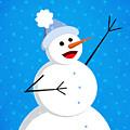 Cute Happy Snowman by Boriana Giormova