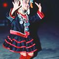 Cute Little Thai Girl Dancing by Heiko Koehrer-Wagner