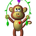 Cute Monkey Jumping Rope