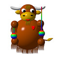 Cute Yak With Yo Yos by Rose Santuci-Sofranko