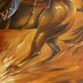 Cutting Horse Closeup 2 by Dina Dargo