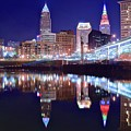 Cuyahoga Reflecting The City Above by Frozen in Time Fine Art Photography