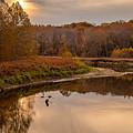 Cuyahoga Valley Autumn Sunset by J Allen