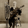 C. W. J. Johnson With His One-man Band Invention 1880 by California Views Archives Mr Pat Hathaway Archives
