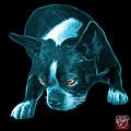 Cyan Boston Terrier Art - 8384 - Bb by James Ahn
