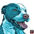 Cyan Bull Fractal Pop Art - 7773 - F - Wb by James Ahn