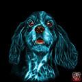 Cyan Cocker Spaniel Pop Art - 8249 - Bb by James Ahn