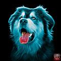 Cyan Malamute Dog Art - 6536 - Bb by James Ahn