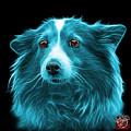 Cyan Shetland Sheepdog Dog Art 9973 - Bb by James Ahn