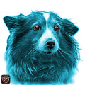 Cyan Shetland Sheepdog Dog Art 9973 - Wb by James Ahn