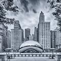 Cyanotype Anish Kapoor Cloud Gate The Bean At Millenium Park - Chicago Illinois by Silvio Ligutti