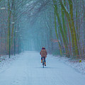 Cycling In The Snow by Casper Cammeraat