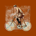 Cycling Man T Shirt Design by Bellesouth Studio