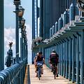 Cycling The Bridge by Carol Ward