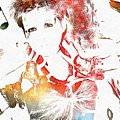 Cyndi Lauper Watercolor by Dan Sproul
