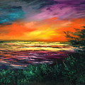 Cypress Sunset by Sally Seago