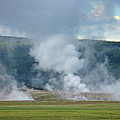 D09125 Steam Vents Near Midway Geyser Basin by Ed Cooper Photography