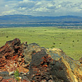 D14577 View From Top Of Ja Volcano by Ed Cooper Photography