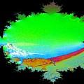 Da Mountain Sail In Fractal by Tim Allen