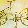Da Vinci Inventions First Bicycle Sketch By Da Vinci by Tony Rubino